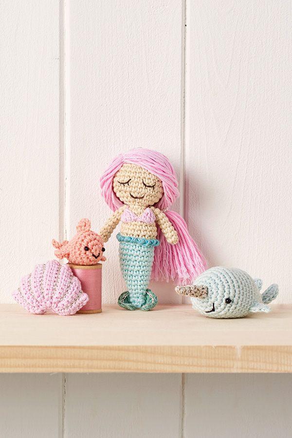 Mollie Makes crochet mermaid and amigurumi characters