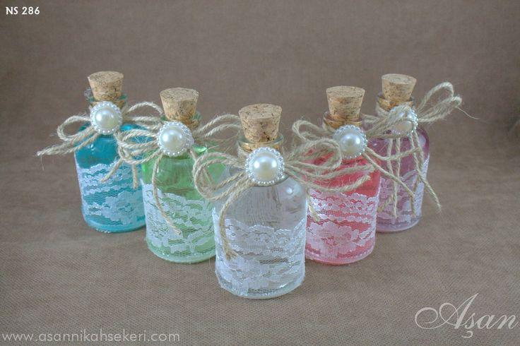 dantelli şişe nikah şekeri