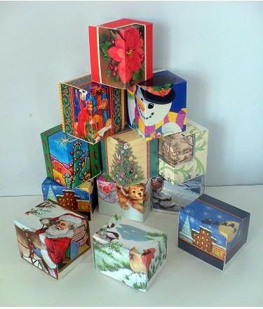 Boxes for Ornaments : Gift Boxes from Greeting Cards, Photos, Postcards and Card Stock