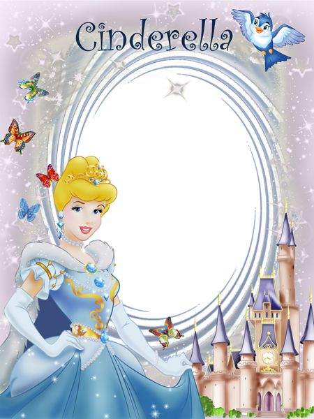 Transparent Frame Princess Cinderella Cute Frames