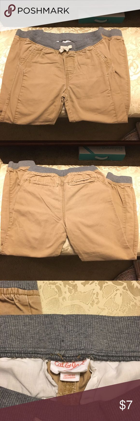 Cat & Jack khaki joggers Cat & Jack khaki jogger pants  Size 8/10 boys  Used but good condition  Tiny spot on knee see pic Cat & Jack Bottoms Sweatpants & Joggers