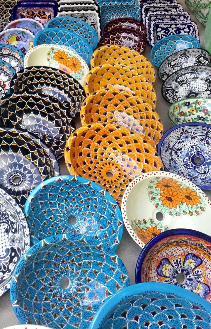 Kolorowe umywalki z Meksyku  Więcej umywalek na www.kolorymeksyku.pl