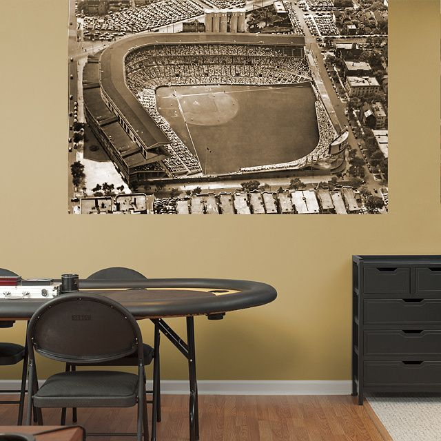 Wrigley Field Historic Aerial Mural Wall Graphic