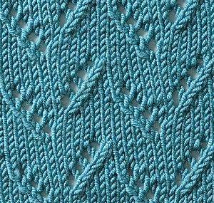 ściegi na drutach - źdźbła trawy