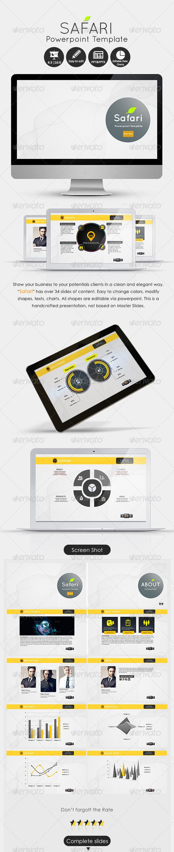 Jquery plugins to work with data presentation and grid layout - Creative Powerpoint Powerpoint Presentation Templates Design Templates Creative Industries Safari Ppt File Data Charts You Videos Personal Portfolio
