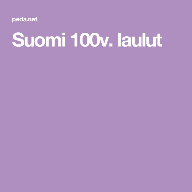 Suomi 100v. laulut