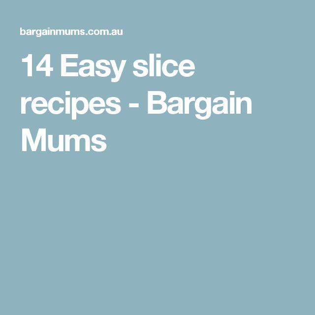 14 Easy slice recipes - Bargain Mums