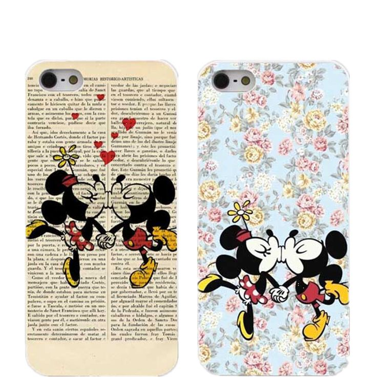Interesting and lovely Floral arctic Monkey Mickey Mouse Case For iPhone 4 4 s 5 5 s 5 c 6 6S 6plus compact white box cover. Price is only $1.59