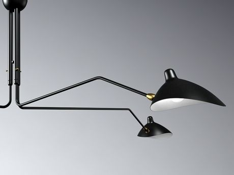 N/A Three Arm Lamp 3d model | Serge  Mouille