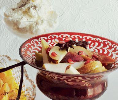 Recept: Fruktsallad med ingefära och stjärnanis