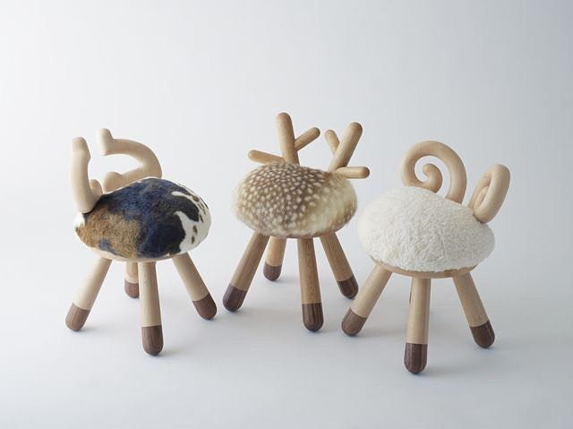 these cute chairs were designed by the japanese designer takeshi sawada for kamina