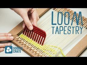 Weave a Hanging Tapestry - YouTube