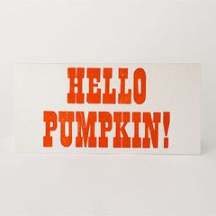 Hello Pumpkin! Letterpress Card