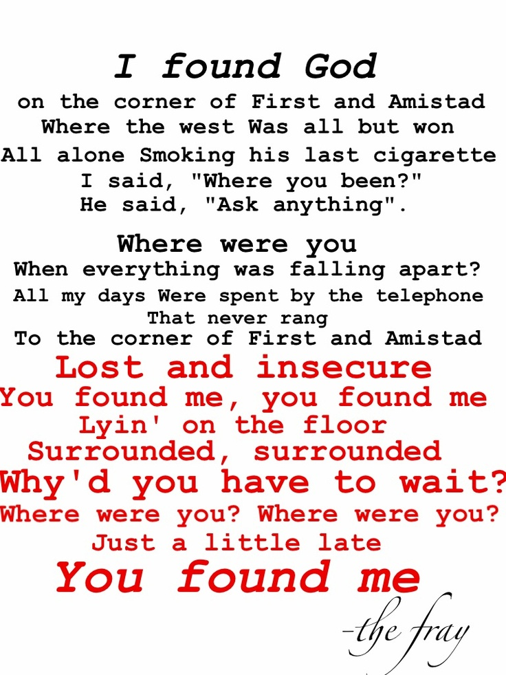 Fray Wherever This Goes Lyrics - lyricsowl.com