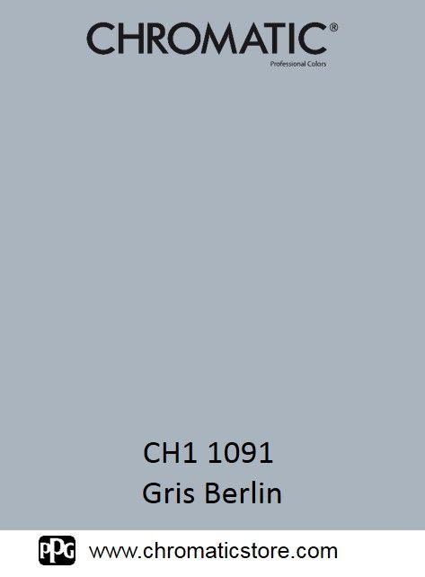 Finalisez votre projet #peinture avec le #Gris Berlin CH1 1091 en vous rendant dans l'un de nos points de vente partenaires. Trouvez votre #distributeur sur www.chromaticstore.com
