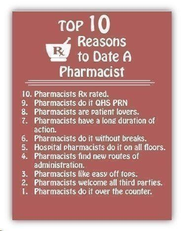 dating my pharmacist Hospital pharmacy series : hospital pharmacy for pharmacy studentsthese topics were written from decades of my experience gained by working at different hospital settings in india.