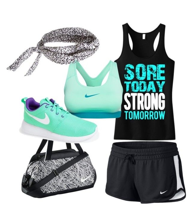 """Untitled #39"" by hoopermaggie ❤ liked on Polyvore featuring NIKE"