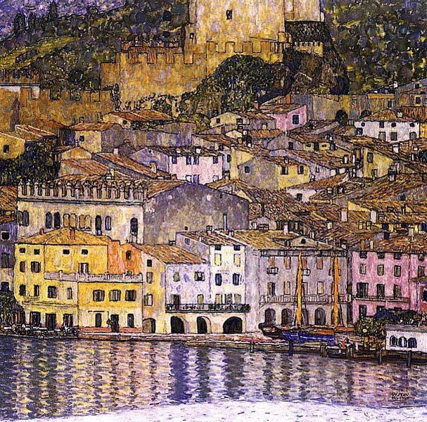 Gustav Klimt Landscapes | Malcesine on Lake Garda, 1913
