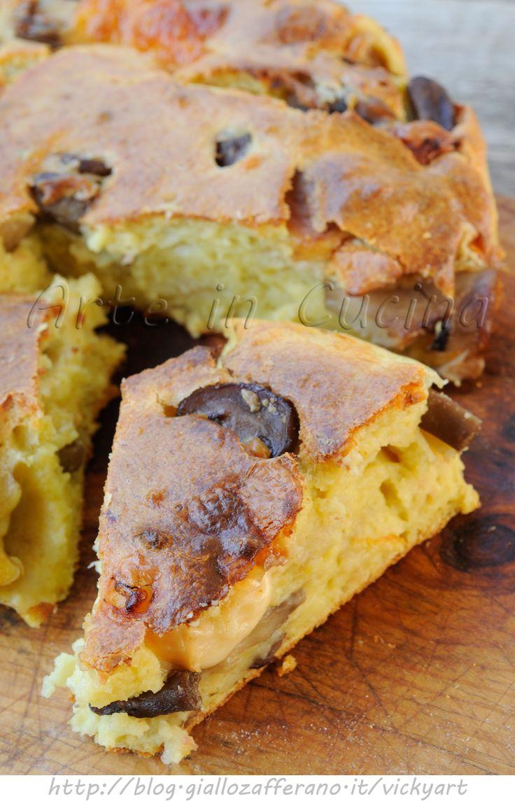 Torta con patate e funghi ricetta salata vickyart arte in cucina