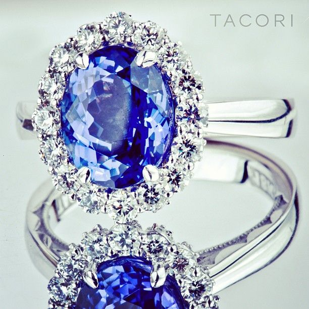 The latest custom #Tacori masterpiece featuring a rare #Tanzanite center stone. Style No. 55-2 CU 7.5 (SO 0131610)