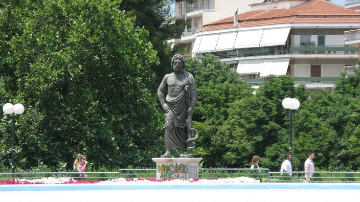 https://flic.kr/p/6xnZf5   Statue of Askleipios   Trikala, Greece.