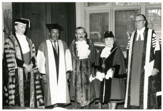 On this day in 1967 Newcastle University presented civil rights activist Martin Luther King Jr with an honorary doctorate in Civil Law.