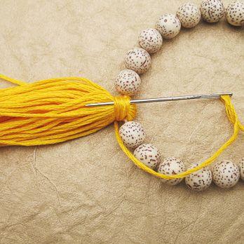 Tassel Beaded Bracelet Tutorial love it! must try! #ecrafty