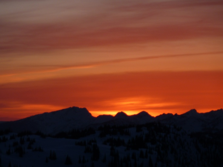 The sunset on the way home from turbo chute.