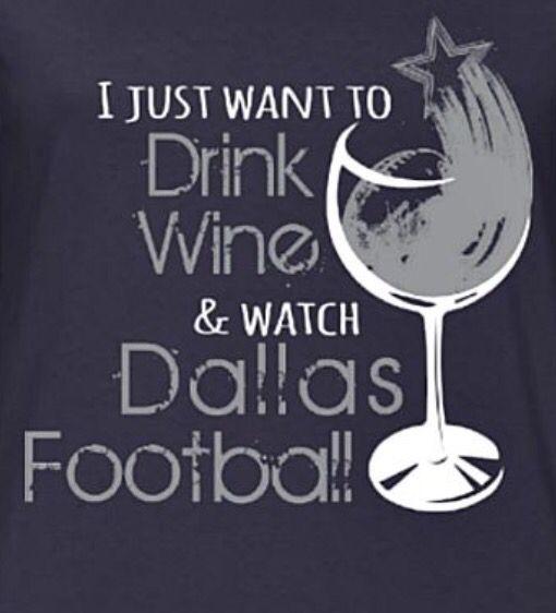 Dallas Cowboys & wine, yes, please ✨