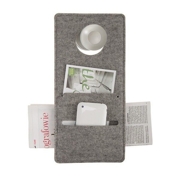 Felt DOORORGANIZER - Boogie Design  DOORORGANIZER is made of natural woolen felt (100% wool), it can be hung on the doorknob.