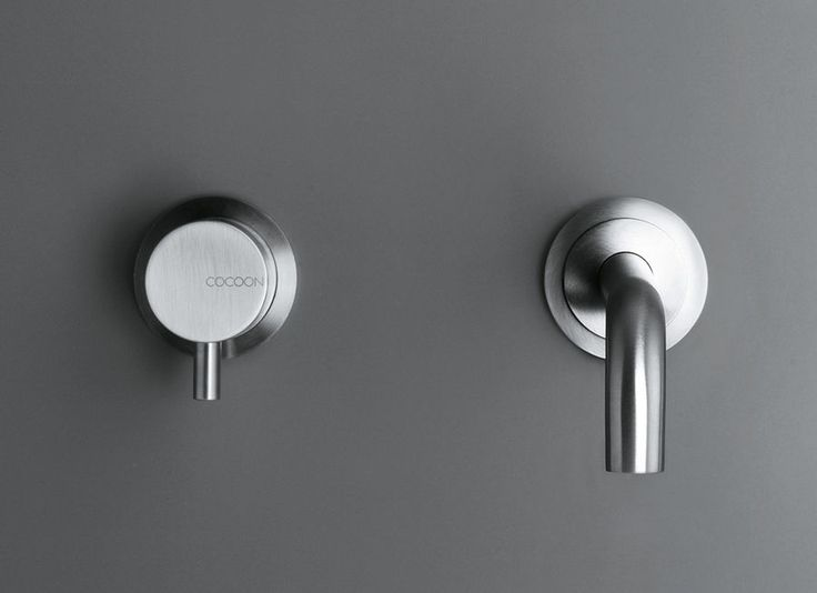 COCOON bathroom fittings are designed to be modular, water-saving and everlasting This stainless steel set consists of a build in wall mounted single lever basin mixer and a wall mounted spout COCOON bathroom taps are available in AISI304 stainless steel in brushed finishing All taps have top quality ceramic cartridges and are provided with water saving aerators
