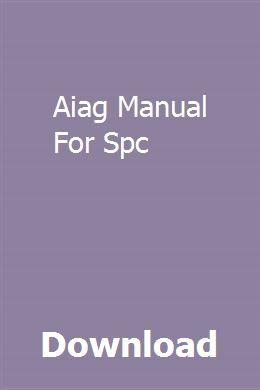 Aiag Spc Manual Pdf