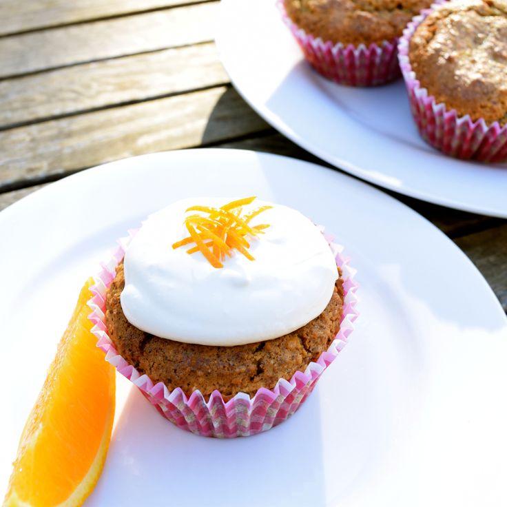 Sugar-free Hazelnut Orange Cupcakes...  #sugarfree #fructosefree #IQS #cupcakes #glutenfree #wholefoods #healthy #dreamingofalmonds
