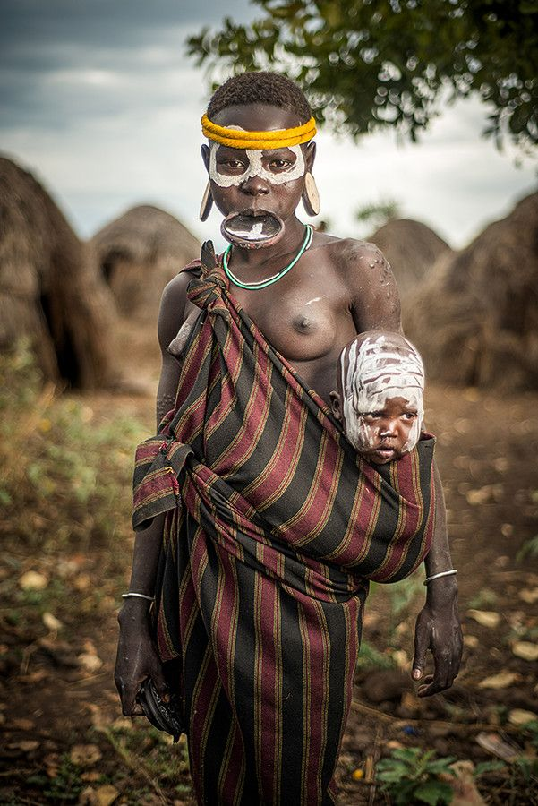 Mursi Tribe mother and child