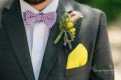 Mens Custom Bow Tie Purple Gingham Freestyle by MeandMatilda, $25.95