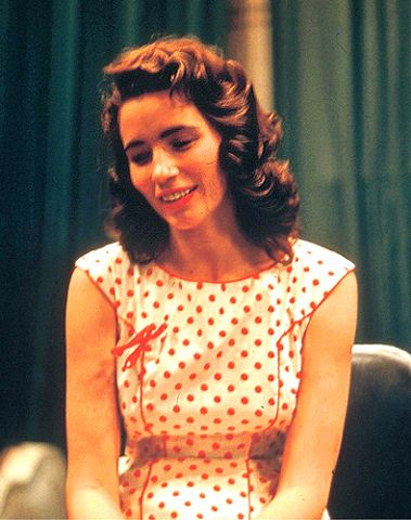 june carter's red polka dress = perfection