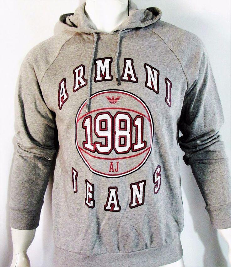 Armani Jeans graphic logo sweatshirt hoodie new color gray,     on sale  #ArmaniJeans #Hoodie