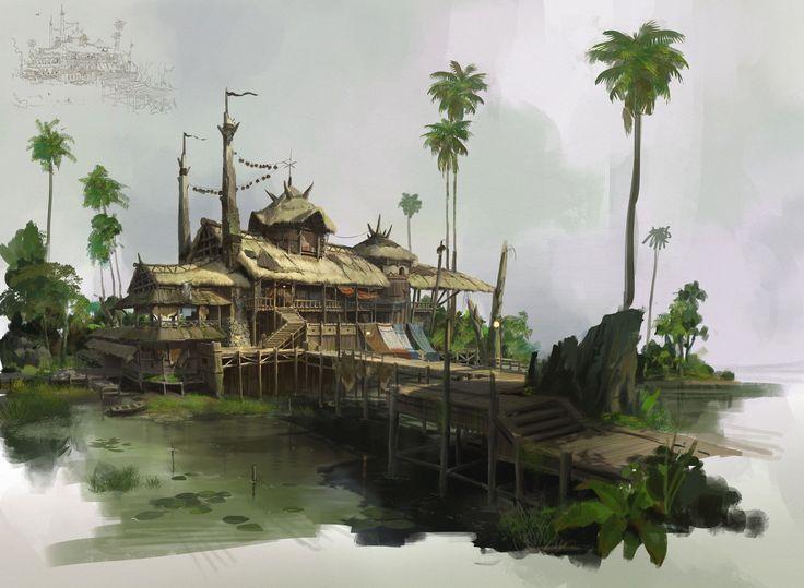 Rainforest tribe, lok du on ArtStation at https://www.artstation.com/artwork/e9BaP