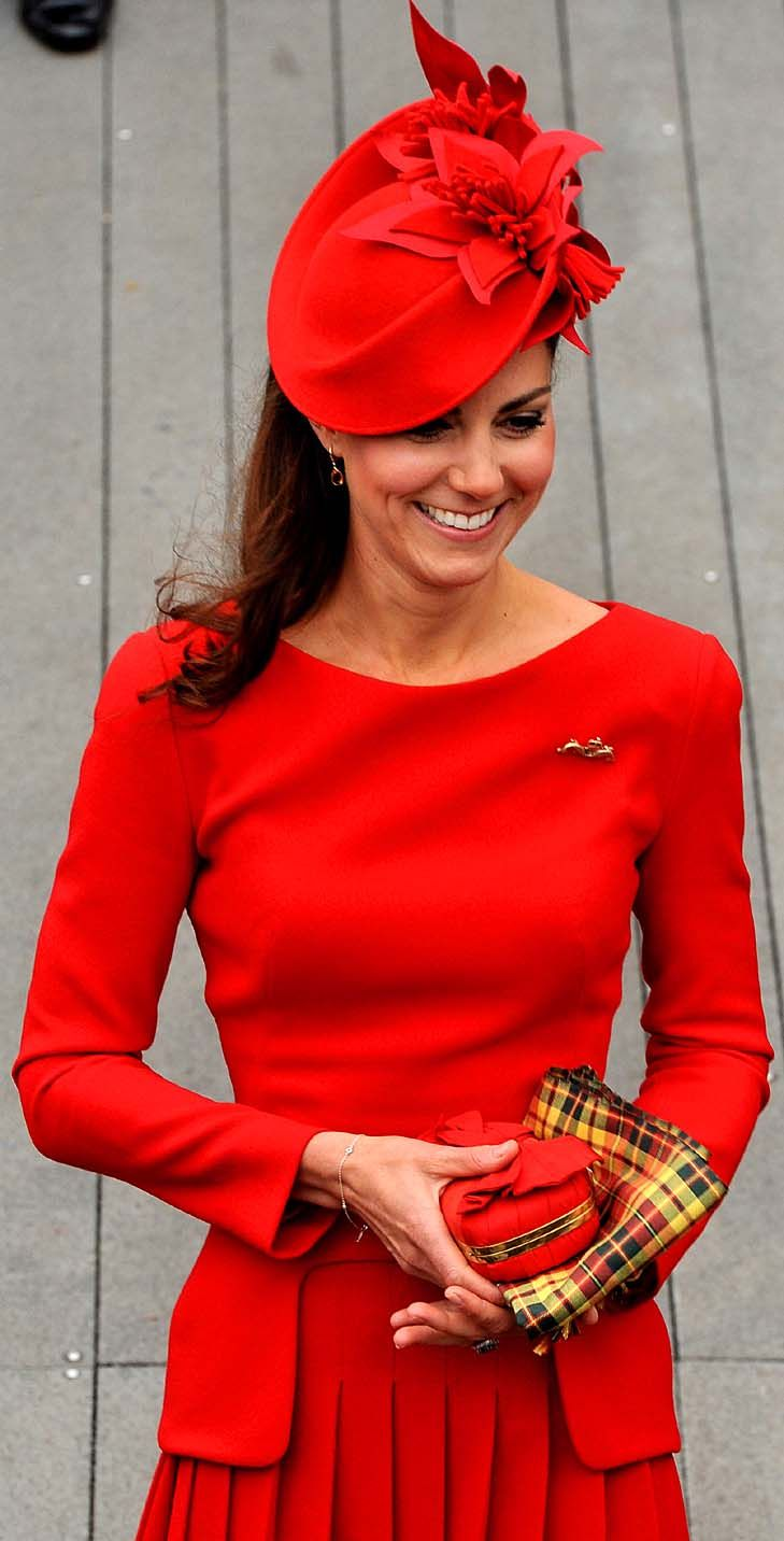 Kate Middleton, The Duchess of Cambridge wearing Alexander McQueen for Her Majesty The Queens Thames Diamond Jubilee - Photoshot/iPhoto - http://iphoto.photoshelter.com/image/I0000juE3Iuog_Ck