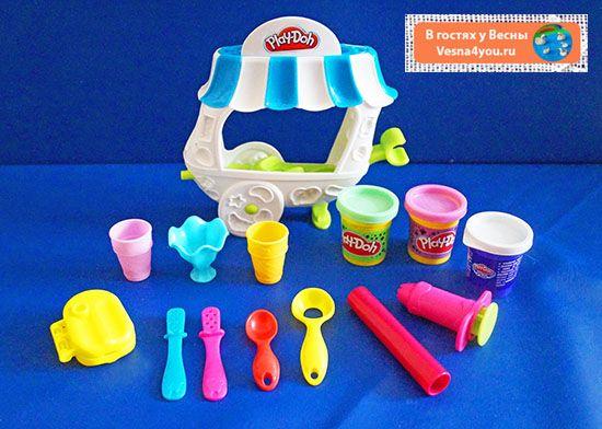 """О пластилине Play-Doh (Плей-До), вагончике мороженого, печеньях и кафе со сладостями для животных) - Обзоры наших любимых игрушек  - Статьи блога """"В гостях у Весны"""" - В гостях у Весны"""