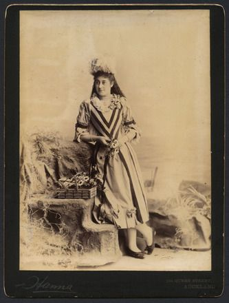 Auckland Amateur Theatricals [woman with flower basket]