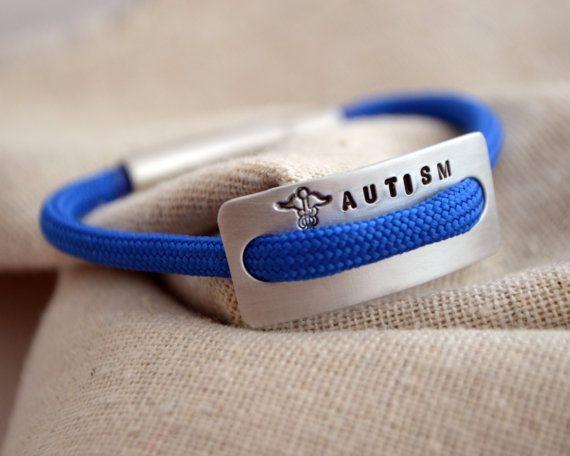 Kinder medische Alert armband  Hand gestempeld  Autisme