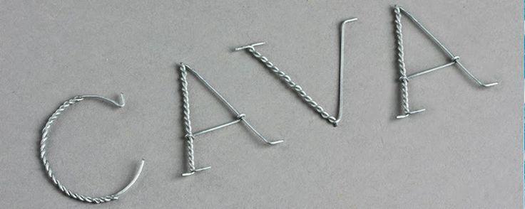 Cava typography, la tipografía del descorche