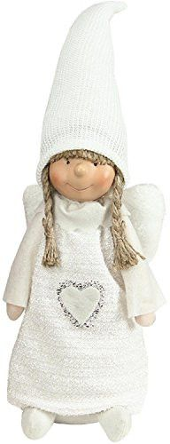 Felices Pascuas Collection 19.25 inch White Snowy Woodlands Girl Angel Christmas Tabletop Figure