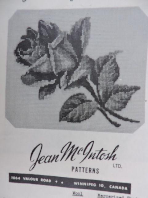SeeSallySew.com - Large Single Tea Rose Jean McIntosh Ltd Petit Point Chart M - 136 Needlework  , $8.00 (http://stores.seesallysew.com/large-single-tea-rose-jean-mcintosh-ltd-petit-point-chart-m-136-needlework/)