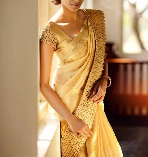 Christian wedding saree
