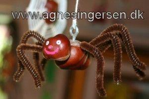 kastanje edderkop fra min blog: http://agnesingersen.dk/blog/kastanjeedderkoppen/
