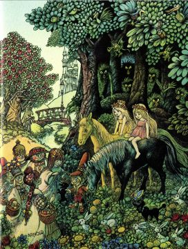 Hans Arnold; illustration to Astrid Lindgren's My Dearest Sister