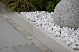 Image result for border edging with slate or pebbles