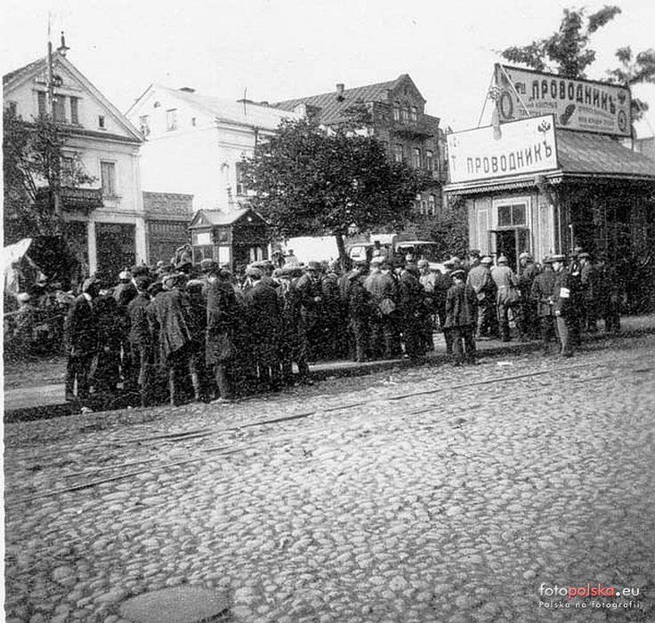 Rynek Kościuszki (Bazarna), Białystok - 1916 rok, stare zdjęcia